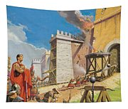 Assault On Carthage Tapestry