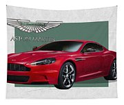 Aston Martin  D B S  V 12  With 3 D Badge  Tapestry