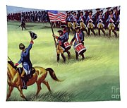 At Saratoga The Colonists Won Victory Tapestry