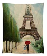At The Eiffel Tower Tapestry