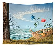 At The End Of The Fence I Am Free Tapestry