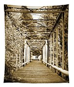 At The Other End Of The Old Bridge Tapestry