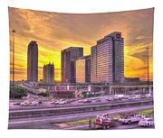 Atlanta Midtown Atlantic Station Sunset Tapestry