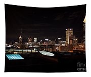Atlanta Night Skyline Tapestry