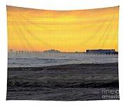 Atlantic City At Dusk Tapestry