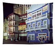 Atlantic City Boardwalk At Night Tapestry