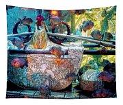 Atlantis Aquarium In Watercolor Tapestry