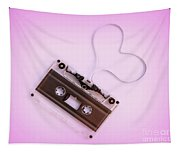 Audio Cassette Love Pink Tapestry