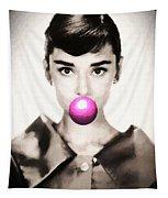 Audrey Hepburn Bubblegum Tapestry