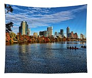 Austin Skyline From Lou Neff Point Tapestry