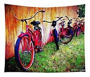 Austin Texas Bikes  -- Original Painting Tapestry