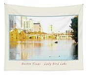 Austin Texas - Lady Bird Lake - Mid November - Two - Art Detail Poster Tapestry