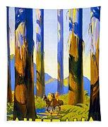 Australia - The Tallest Trees In The British Empire - Marysville, Victoria - Retro Travel Poster Tapestry