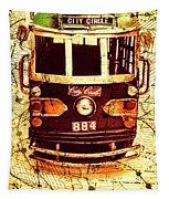 Australia Travel Tram Map Tapestry