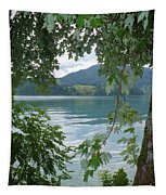 Austrian Lake Through The Trees Tapestry