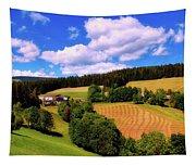 Austrian Rural Forest Vista Tapestry