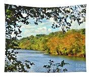 Autumn Along The New River - Bisset Park - Radford Virginia Tapestry