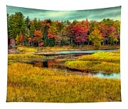 Autumn Along The River Tapestry