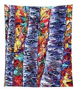 Autumn  Aspen Trees Contemporary Painting  Tapestry