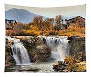 Autumn At Lundbreck Falls Provincial Park Tapestry