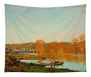 Autumn Banks Of The Seine Near Bougival Tapestry
