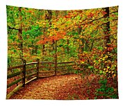 Autumn Bend - Allaire State Park Tapestry
