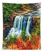 Autumn Blackwater Falls - Paint 3 Tapestry