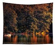 Autumn Boating At Argyle Lake Tapestry