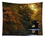 Autumn Country Bridge Tapestry