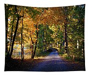 Autumn Country Lane Tapestry