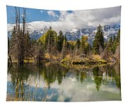 Autumn Day At Schwabacher's Landing Tapestry
