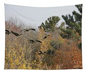 Autumn Geese Tapestry