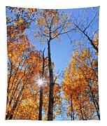 Autumn Gold Sunburst Tapestry