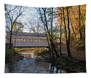 Autumn In Valley Forge - Knox Covered Bridge Tapestry