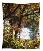Autumn Lake Tapestry