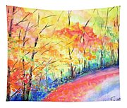 Autumn Lane Iv Tapestry