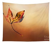 Autumn Leaf Falling By Kaye Menner Tapestry