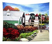Autumn Lighthouse Miramichi New Brunswick Canada Tapestry