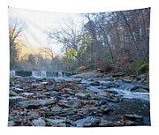 Autumn Morning Along The Wissahickon Creek Tapestry