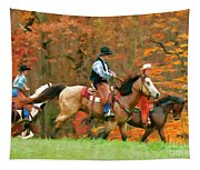 Autumn On Horseback Tapestry