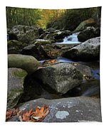 Autumn On Little River In The Smoky Mountains Tapestry