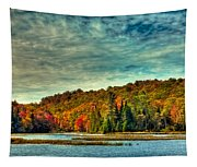 Autumn On The Moose River In Thendara Tapestry