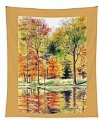 Autumn Oranges Tapestry