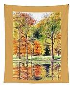 Autumn Oranges Tapestry