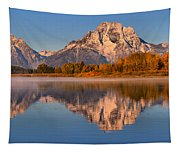 Autumn Oxbow Bend Reflections Tapestry