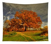 Autumn Picnic On The Hill Tapestry