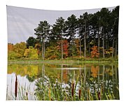 Autumn Pond Tapestry