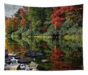 Autumn River Landscape Tapestry
