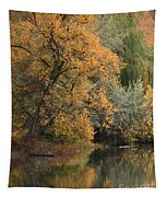 Autumn Riverbank Tapestry