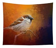 Autumn Sparrow Tapestry
